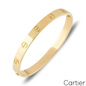 Cartier Yellow Gold Plain Love Bracelet Size 21 B6035521